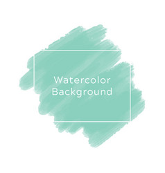 mint blue watercolor background vector image