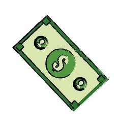 Money billet isolated vector