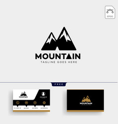 Mountain initial m logo template and business vector