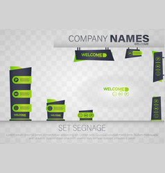 Office exterior monument sign vector