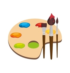 Paint pallette school supply isolated icon vector