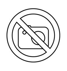 Photographic camera with denied sign vector