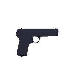 Pistol old soviet world war 2 handgun silhouette vector