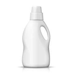 plastic detergent bottle isolated on white vector image