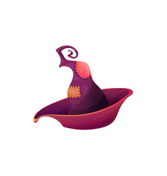 purple magician headwear with patches icon vector image