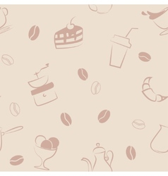 Seamless pattern with coffee symbols vector image