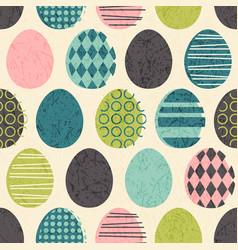 Seamless retro easter eggs pattern vector