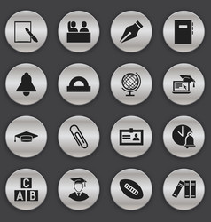 set of 16 editable university icons includes vector image