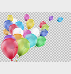 set of multi-colored balloons vector image