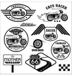 Set of vintage motorcycle badges vector