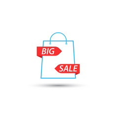 Shopping bag symbol is a big sale vector