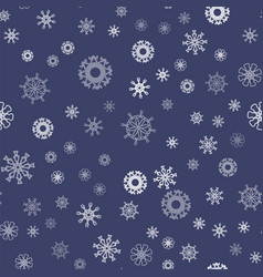 show flakes seamless pattern vector image