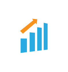statistic bar icon graphic design template vector image