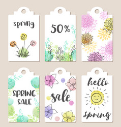 tags for spring sale vector image