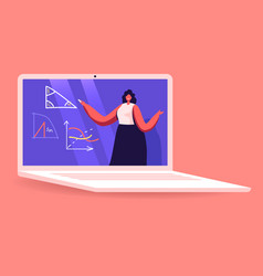 Teacher female character conduct geometry or vector