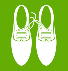 tied laces on shoes joke icon green vector image