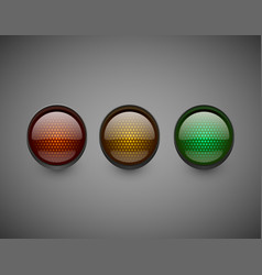 traffic lights isolated on dark background vector image