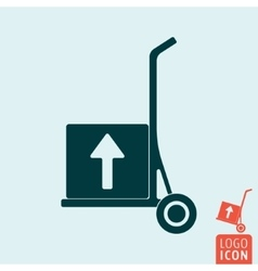 Trolley icon isolated vector