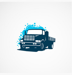 truck wash logo template designs for company vector image