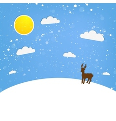 xmas of happy Reindeer vector image