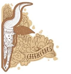 Engraving capricornus vector