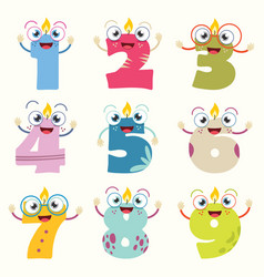 of funny cartoon numbers vector image