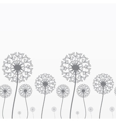 Seamless background with dandelions vector image vector image