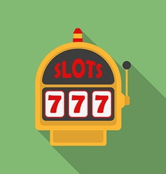 Slot Machine icon Modern Flat style with a long vector image