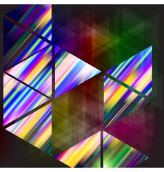 Abstract background-geometric composition with vector image