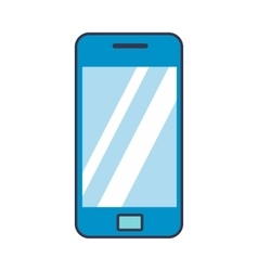 Blue smartphone flat icon vector image vector image