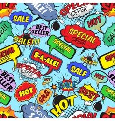Comic bubbles seamless sale vector image
