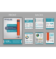 Flyer design with elements of infographics vector image vector image
