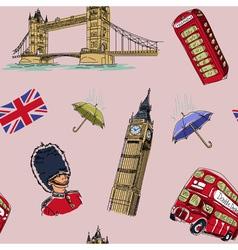 London seamless pattern vector image vector image