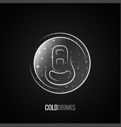 Aluminum can drink logo background vector
