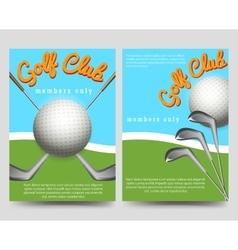 Golf club brochure flyers template vector image
