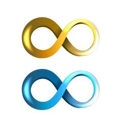 Infinity icons vector