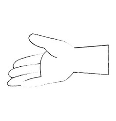 Isolated opened hand vector