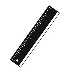 yardstick icon simple style vector image