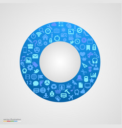 circle of app icons vector image