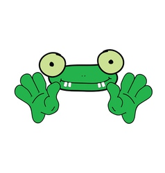 funny frog animal vector image