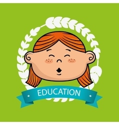 girl student graduation icon vector image vector image