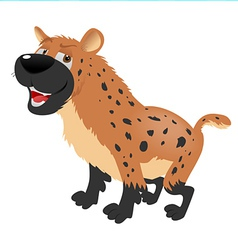 hyena sitting vector image vector image