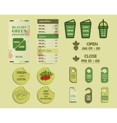 Organic Brand Identity vector image vector image