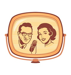 Retro TV talk show vector image vector image