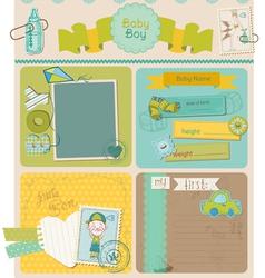 Scrapbook Design Elements - Baby Boy Cute Set vector image vector image