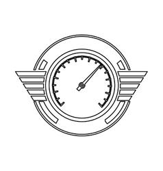 silhouette speedometer prize in monochrome vector image vector image