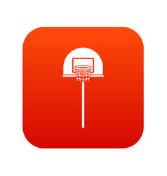 street basketball hoop icon digital red vector image