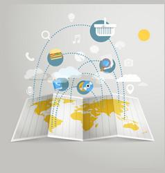 World trade abstract scheme Design elements vector image vector image