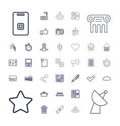37 button icons vector