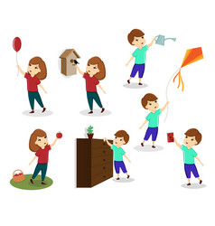 a set of images of children children play vector image